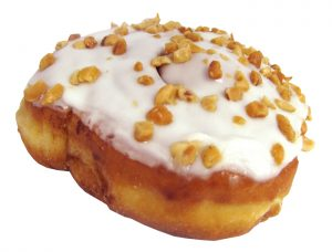 White Iced Cinnamon Roll with nuts 005